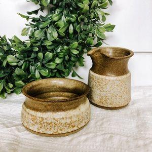 Handmade Ceramic Cream and Sugar Set